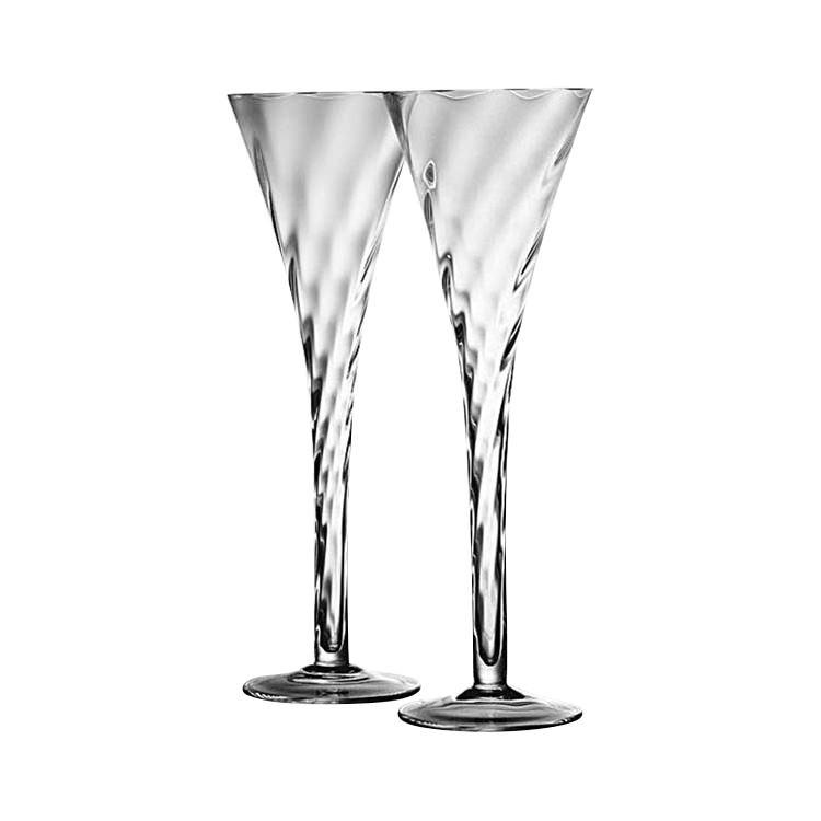 5306b56d5bc Krosno Set of 2 Silhouette Hollow Stem Champagne Flute