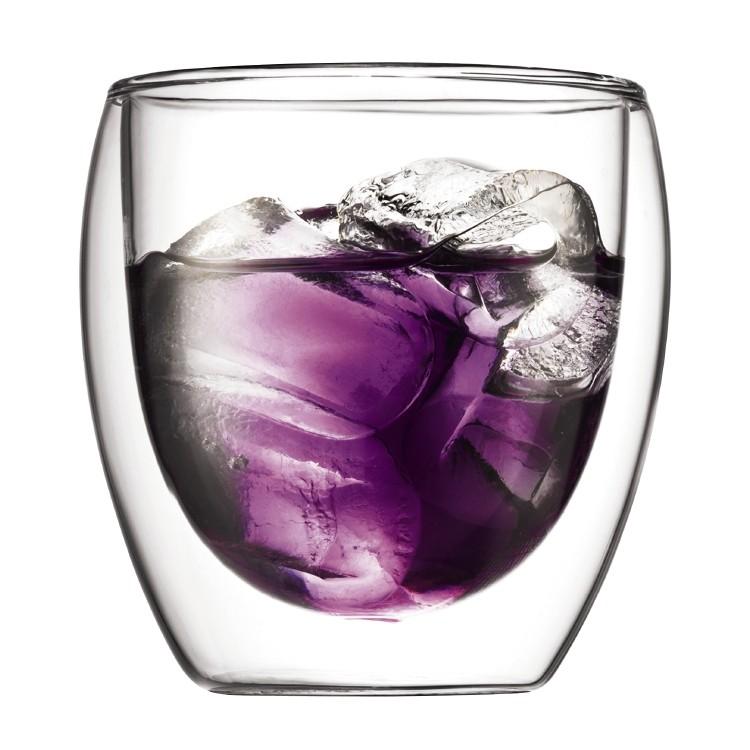 Bodum Pavina 2 pcs glass, double wall, small, 0.25 l, 8 oz Transparent