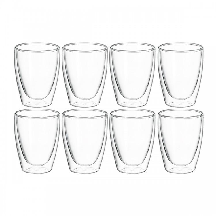 Avanti Caffe Twin Wall Glass 250ml - 8 Piece Set
