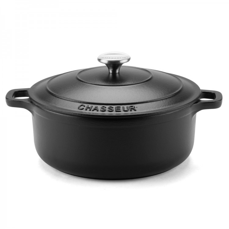 Chasseur Round French 10cm Matte Black