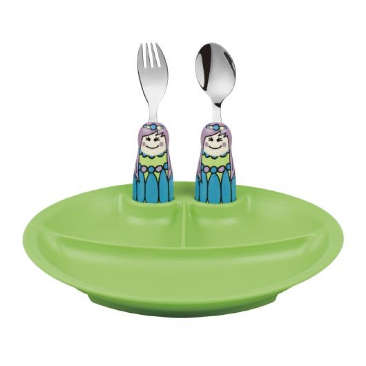 Eat4Fun Fairy princess 3pc Plate Set