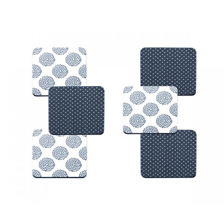 Maxwell & Williams Print Indigo Set of 6 10.5cm Assorted  Coaster