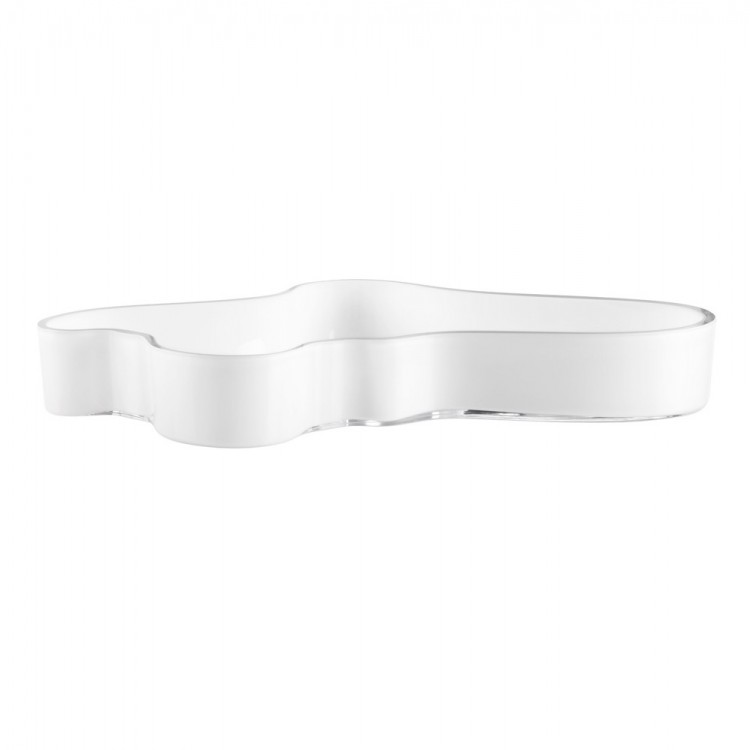 Iittala Aalto Bowl 38cm White Opal Mouth Blown