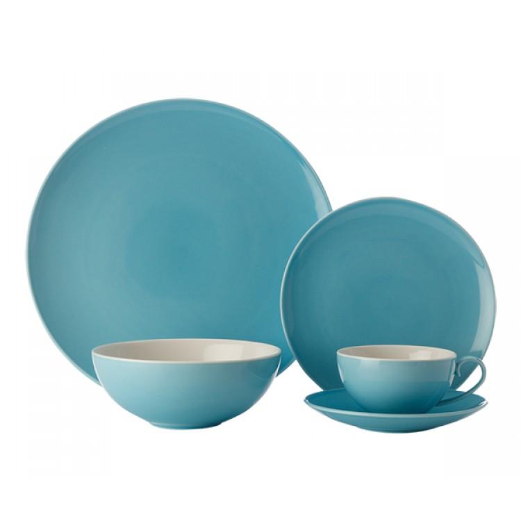 Maxwell & Williams Colour Basics Coupe 20 Piece Dinner Set