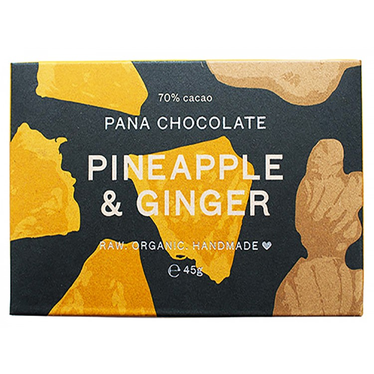 Pana Chocolate Pineapple & Ginger 45g Bar
