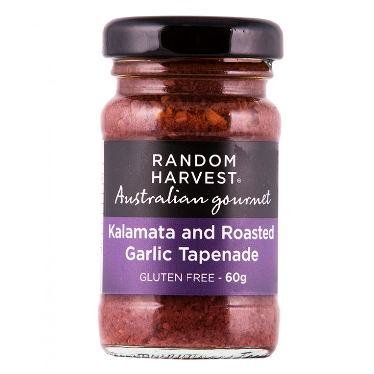 Random Harvest Kalamata With Roasted Garlic 60g
