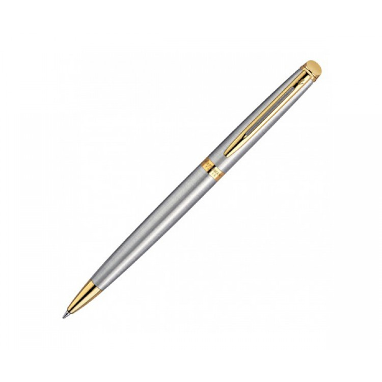 Waterman Hemisphere Ballpoint Pen - Brushed Stainless GT