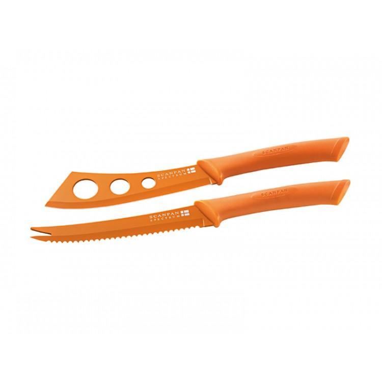 Scanpan Spectrum Orange Cheese Knife Set