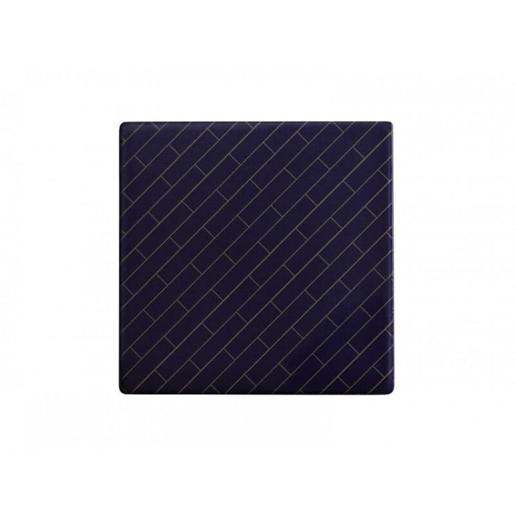 Maxwell & Williams Tessellate Ceramic Square Tile Coaster Avenue 9.5cm | DU0034