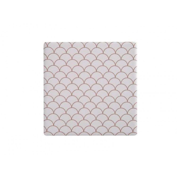 Maxwell & Williams Tessellate Ceramic Square Tile Coaster Neptune 9.5cm | DU0044
