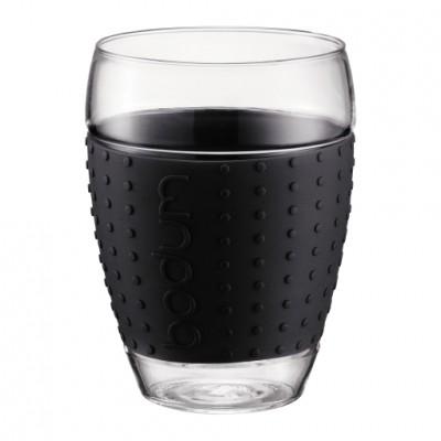 Bodum Pavina 2 pcs glass, 0.35 l, 12 oz Black