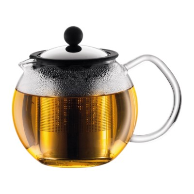 Bodum Assam Tea press with s/s filter, 0.5 l, 17 oz Shiny