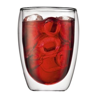 Bodum Pavina  2 pcs glass, double wall, medium, 0.35 l, 12 oz Transparent