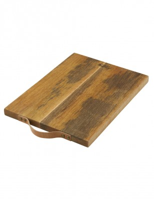 Academy Eliot Chopping Board With Leather Handle 45x30x2.5