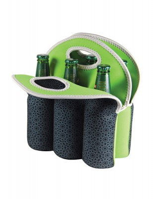 Avanti Insulated Six Pack Bottle Tote - Mosaic Black