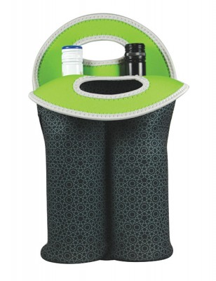 Avanti Insulated Twin Bottle Tote - Mosaic Black,