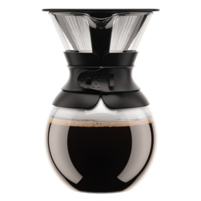 Bodum Pour Over Coffee maker with permanent filter, 1.0 l, 34 oz  Black
