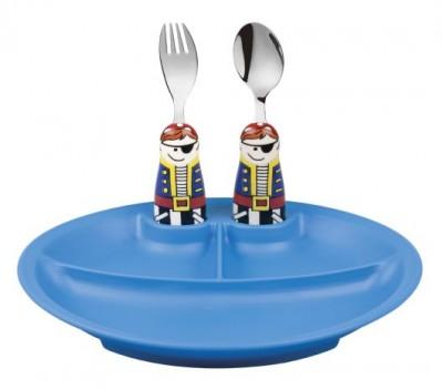 Eat4Fun Pirate 3pc Plate Set