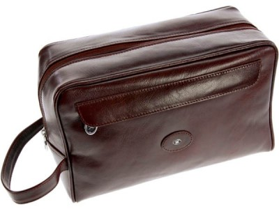 Europa Brands Hans Kniebes Frankfurt Leather Toiletry Bag