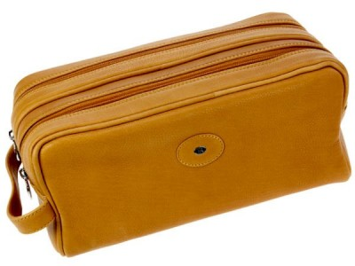 Europa Brands Hans Kniebes Munich Leather Toiletry Bag