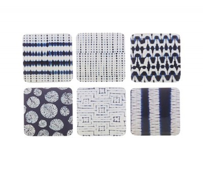 Maxwell & Williams Shibori Set of 6 10.5cm Assorted  Coaster