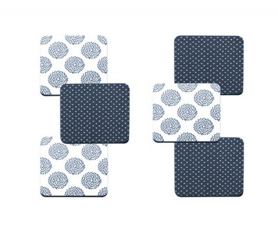 Maxwell & Williams Print Indigo Set of 6 10.5cm Assorted  Coaster