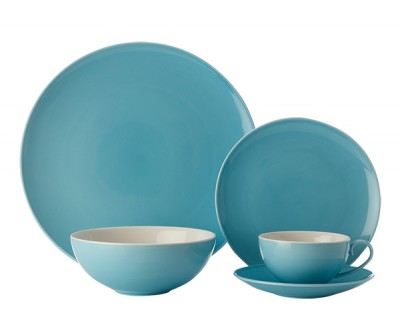 Maxwell & Williams Colour Basics Coupe 20 Piece Dinner Set