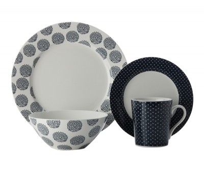 Maxwell & Williams Print Indigo 16 Piece Dining Set