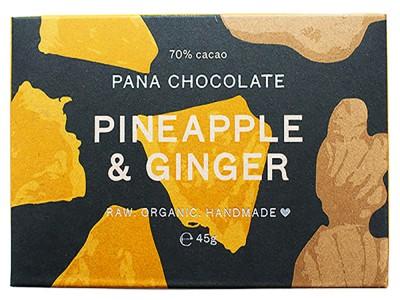 Pana Chocolate Pineapple & Ginger 45g Bar