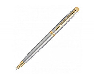 Waterman Hemisphere Ballpoint Pen - Brushed Stainless GT