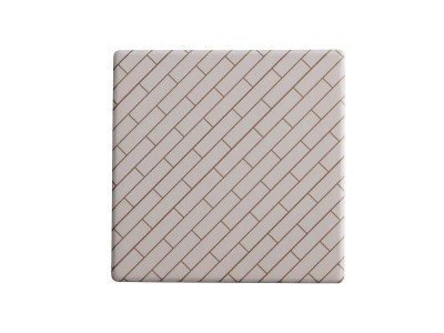 Maxwell & Williams Tessellate Ceramic Square Tile Coaster Avenue 9.5cm | DU0035