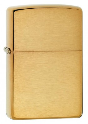 Zippo Armor Lighter -  Brushed Brass
