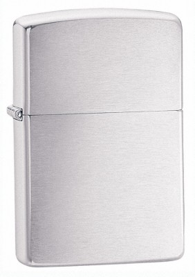 Zippo Armor Lighter - Brushed Chrome