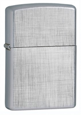 Zippo Classic Lighter - Brushed Chrome  Linen Weave Pattern