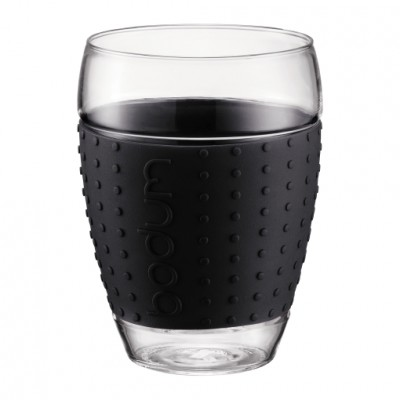 Bodum Pavina 2 pcs glass, 0.35 l, 12 oz Black