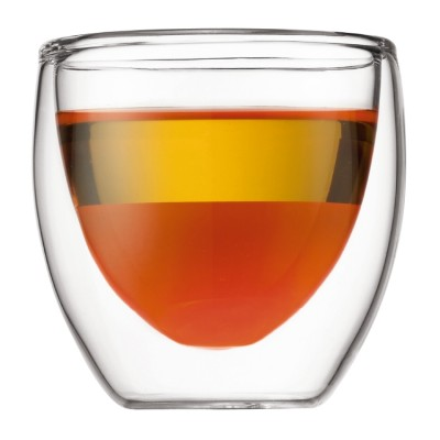 Bodum Pavina 2 pcs glass, double wall, extra small, 0.08 l, 2.5 oz Transparent