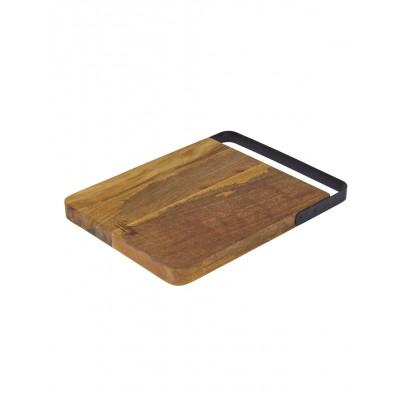 Academy Eliot Rectangular Board With Iron Handle 38x28x3cm