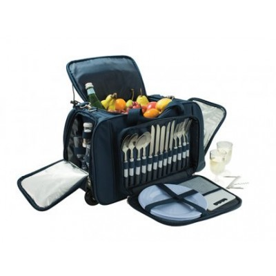 Avanti 4 Person Picnic Trolley Bag (Blue)