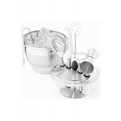 Avanti Art Deco Ice Bucket and Bar Tool Set