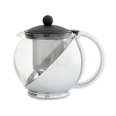 Avanti Aurora Teapot 1.2 Litre Black/Chrome