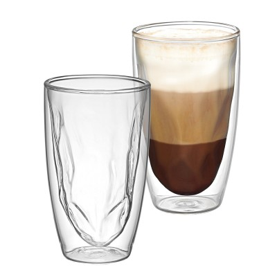 Avanti Caffe Bedrock Twin Wall Glass 350ml - 2 Piece Set