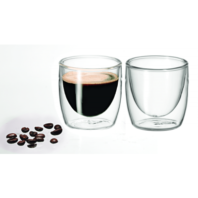 Avanti Caffe Twin Wall Glass 100ml - Set of 2