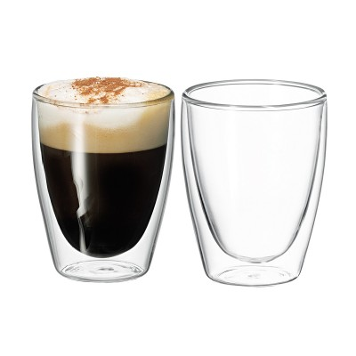 Avanti Caffe Twin Wall Glass 250ml - 2 Piece Set