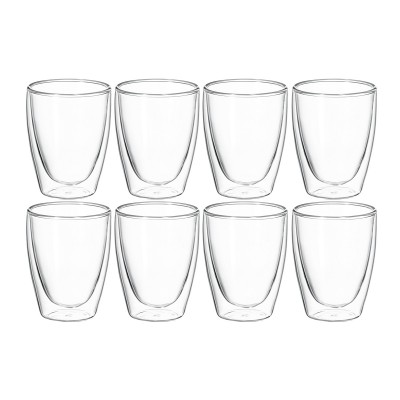 Avanti Caffe Twin Wall Glass 250ml - 8 Piece Set