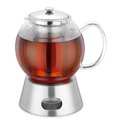 Avanti Glass Teapot with Stainless Steel Warmer