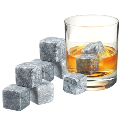 Avanti Whisky Rocks Set 9 Piece Set with Velvet Pouch and Box