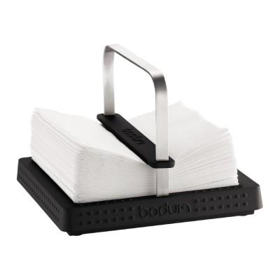 Bodum Bistro Napkin holder, 20 x 20 cm, 8 x 8 inch Black