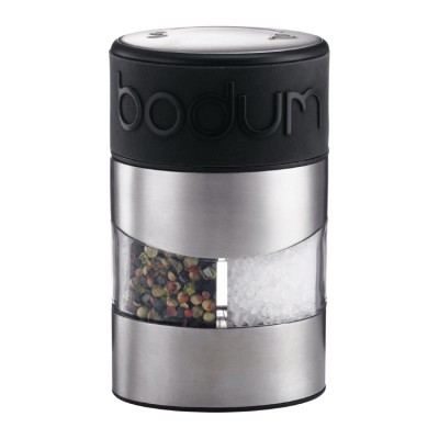 Bodum Twin Salt and pepper grinder black