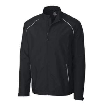 Cutter & Buck WeatherTec Beacon Full Zip Mens Jacket In Black