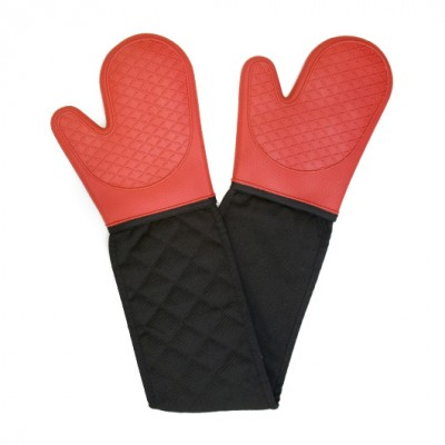 Cuisena Silicone Double Oven Glove - Red